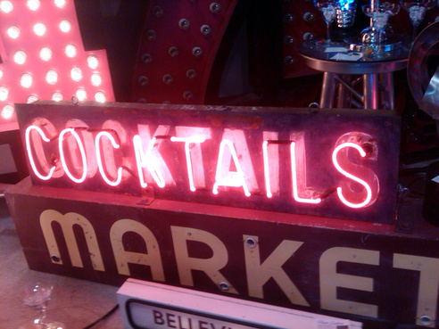 neon sign cocktails signage signs commercial seattle
